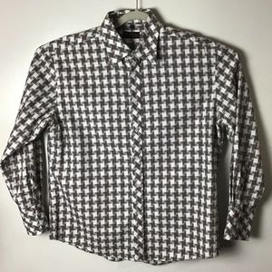 Ben Sherman brown pattern button up shirt. XL